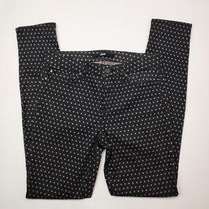 Else Black and Gray Polka Dot Skinny Jean Size 29